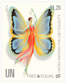 UN Free&Equal Stamps series: Transgender