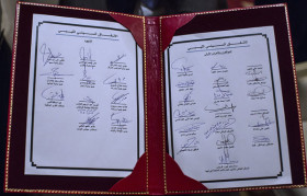 The signatures on the agreement