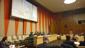 """Bonino a """"From Paris to Marrakech: Translating political commitments into effective gender-responsive climate solutions"""" (Foto A. Serafini)"""