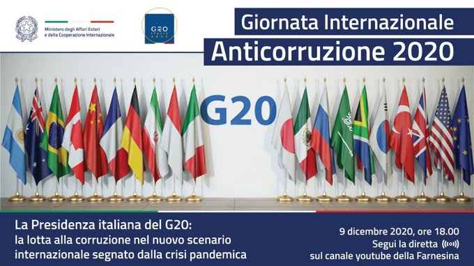 Corruption: Italy calls for more international efforts